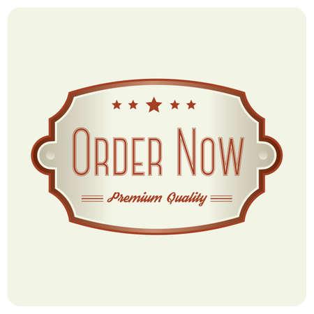 order now badge Banco de Imagens - 81538696