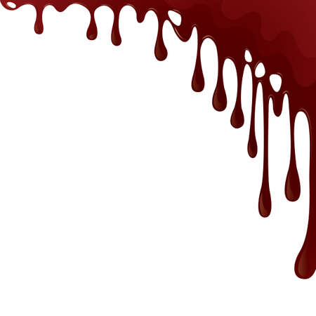 dripping blood background Ilustração