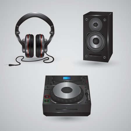 Collectie van audioapparatuur Stockfoto - 81536053