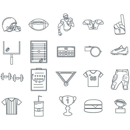 american football icons Ilustrace