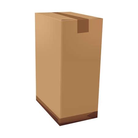 caja de cartón Ilustración de vector