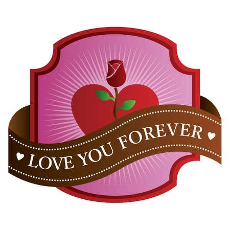 love you forever label Archivio Fotografico - 106672621