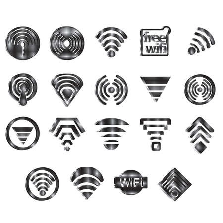 set of wifi icons