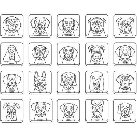 Set van honden Stock Illustratie