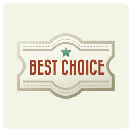 beste keuze-badge Stock Illustratie