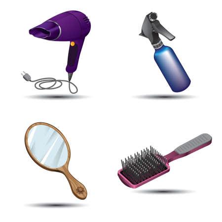 Haarstyling-Werkzeuge Standard-Bild - 81537941