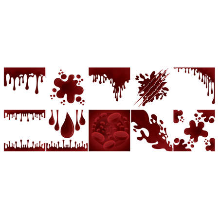 collection of dripping blood background