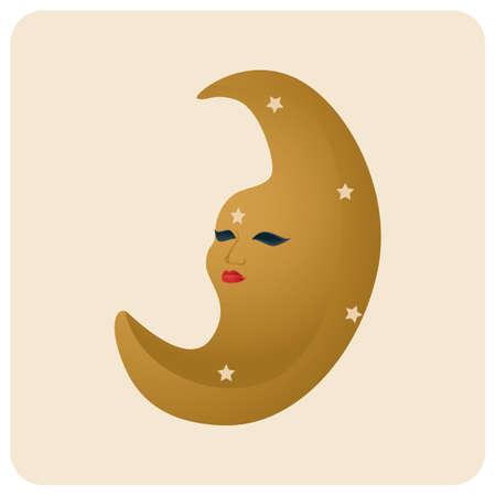 crescent moon 向量圖像