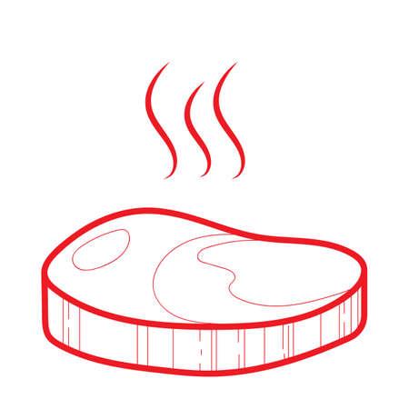 beef steak Illustration