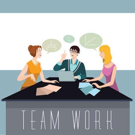 Team brainstorming an idea