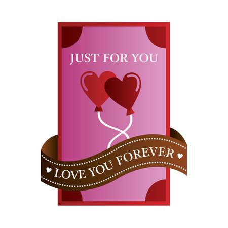 love you forever label Banco de Imagens - 106672673