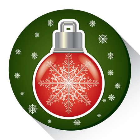 雪フレーク電球  イラスト・ベクター素材