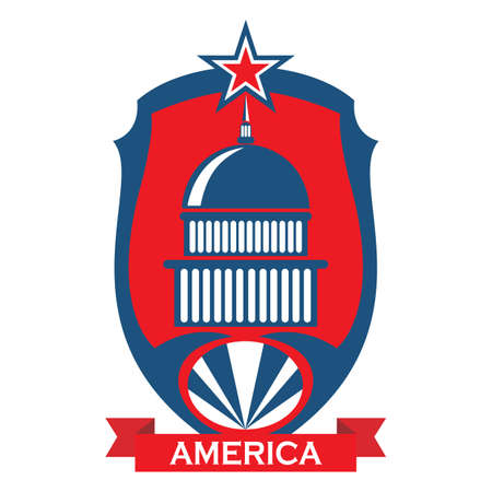washington dc label Illustration
