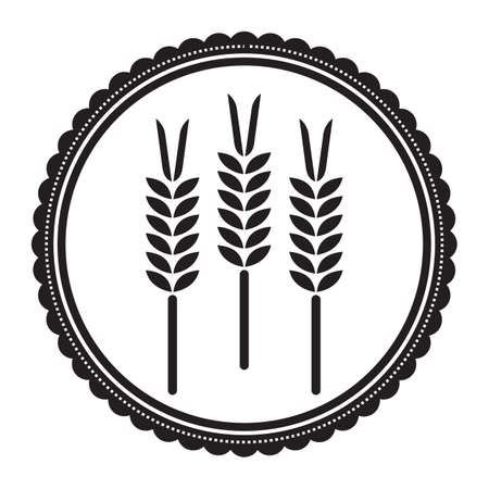 wheat grains Illustration