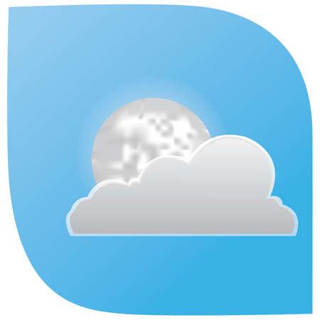 wolk en maan