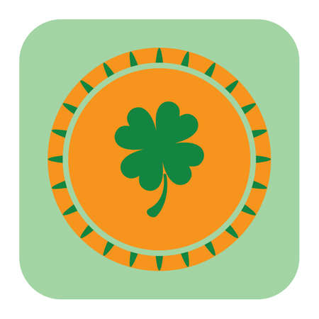 聖パトリックの祭りラッキーコイン  イラスト・ベクター素材