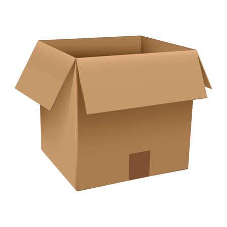 cardboard box Illusztráció