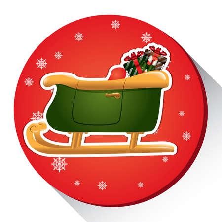 christmas sledge Ilustração