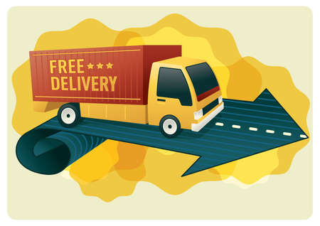 free delivery logistics van