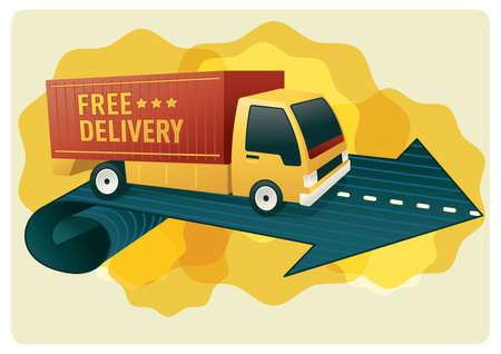free delivery logistics van