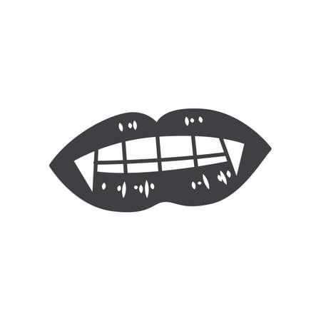 colmillos de vampiro Ilustración de vector