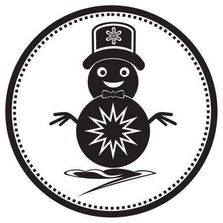 snowman 矢量图像