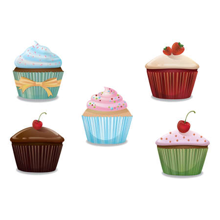 collection of cupcakes 스톡 콘텐츠 - 106672760