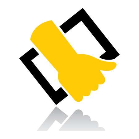 hand holding frame Illustration