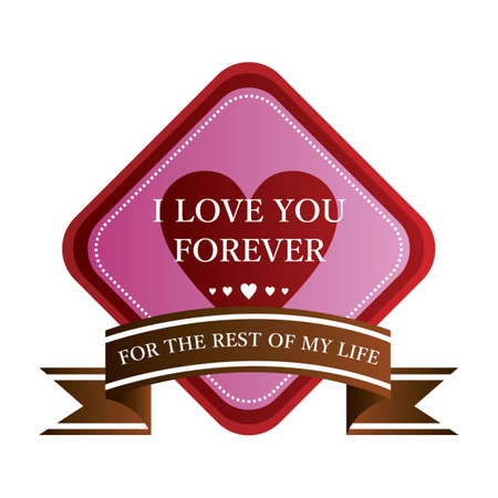 love you forever label Imagens - 106672770