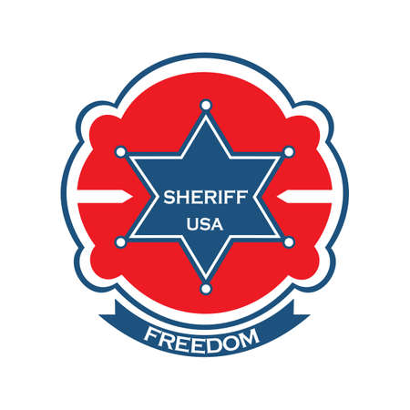 sheriff star label