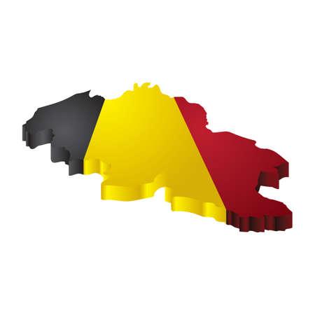 belgië kaart Vector Illustratie