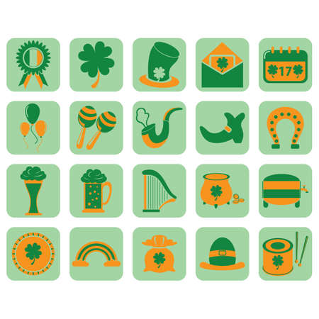 set of saint patricks festival icons