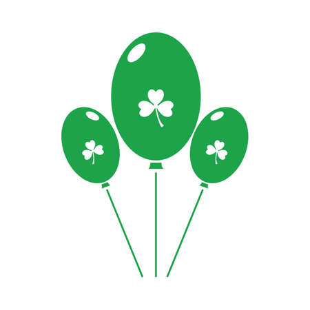 balloons with clover leaf 向量圖像