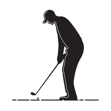 남자 골프의 실루엣 스톡 콘텐츠 - 81419097