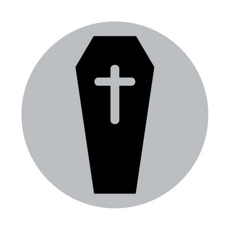 coffin with a cross