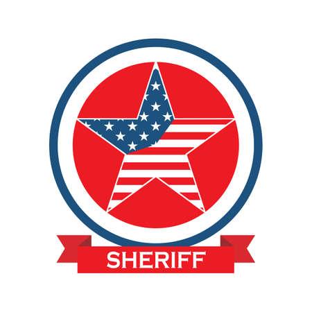 etiqueta de la estrella del sheriff