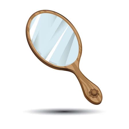 Miroir à main Banque d'images - 81537954