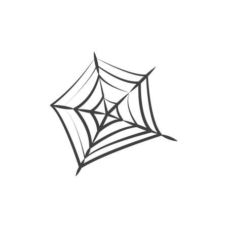 Spinnennetz Vektorgrafik