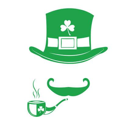 leprechaun hat and tobacco pipe