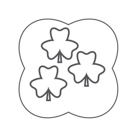 three-leaf clovers Archivio Fotografico - 106672855