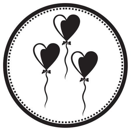heart balloons  イラスト・ベクター素材
