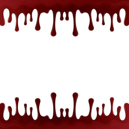 tropfender Bluthintergrund Vektorgrafik