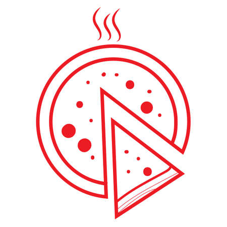 pizza  イラスト・ベクター素材