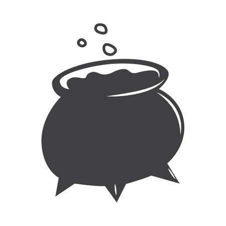 poción en caldero Ilustración de vector