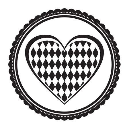 heart shape bavarian flag 向量圖像