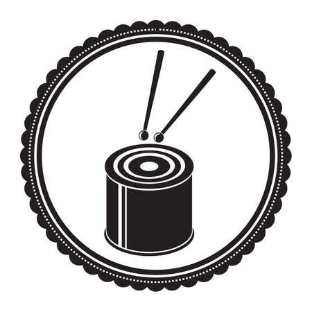 tambor de bajo Ilustración de vector