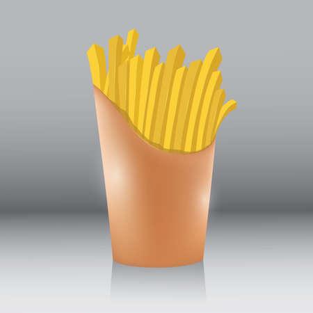 감자 튀김 일러스트
