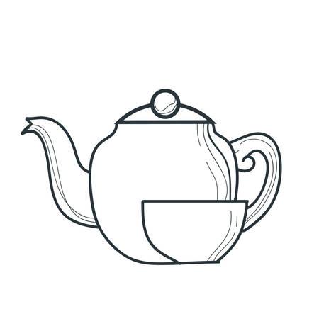 bollitore e tazza di tè