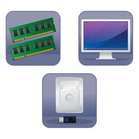 computer pictogrammen Stock Illustratie