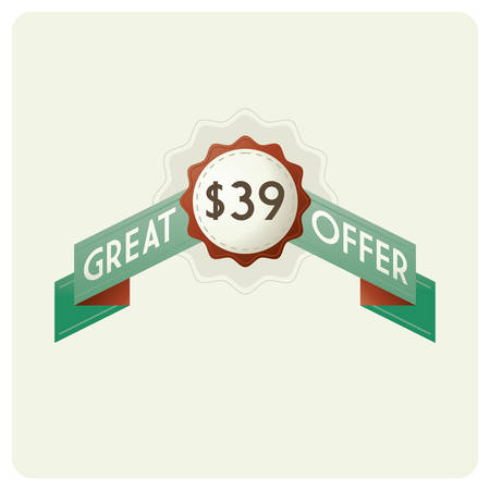 great offer badge